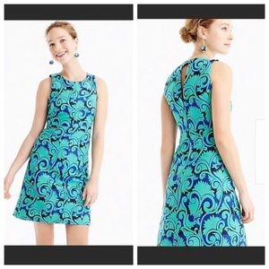 J CREW Vineyard Jacquard A-Line Dress SZ 4